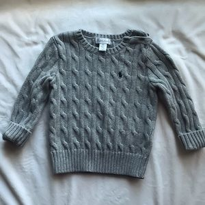 Kid's Gray Polo knit sweater size 18 months